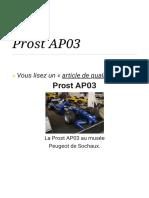 Prost AP03