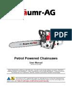 Baumr Ag Chainsaw Manual Sx75