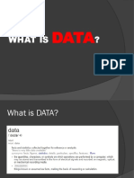Data in CRM
