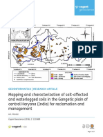Mapping and Characterization of Salt-Affected and Waterlogged Soils in the Gangetic Plain of Central Haryana (India) for Reclamation and Management