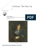 """An Analysis of Poem """"The Flea"""" by John Donne 