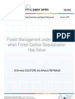 Forest Management Under Fire Risk