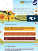 Analysis Slide of topic Analyzing Analysis topic of Pre-Service Primary Teachers' Fraction Knowledge Structures Through Problem Posing