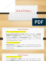 Topic 2 a Global Politics