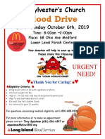 Blood Drive Flier 10-6-2019