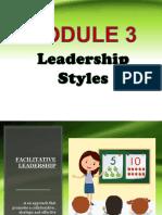 Educational Leadership Module 3
