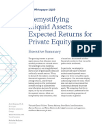 Expected Returns for Private Equity