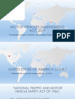 The Motor Vehicle (Amendment) Act, 2019 (Comparison)