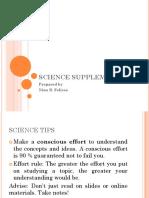 Science Supplemental
