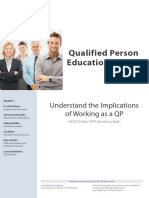 Qualified Person Education Course Oct 2019
