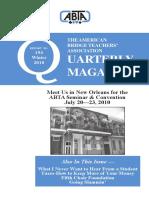 ABTA Quarterly Winter 2010