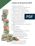Pointers for EAPP first quarter exam