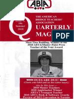 ABTA Quarterly Summer 2010