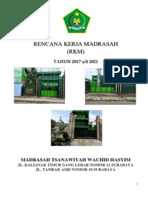 Rencana Kerja Madrasah Rkm Pdf