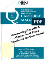 ABTA Quarterly Fall 2009