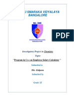 Chemistry Project Class 11 (Final)