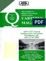 ABTA Quarterly Spring 2009