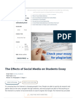 The Effects of Social Media on Students Essay Example