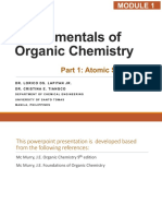 Lecture 1 - Fundamentals of Organic Chemistry