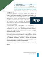 Sandra Carro Menor Lectura La Evaluación Del Lenguaje Del Maestro de Audición y Lenguaje