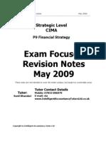 CIMA+P9+Revision+Notes+May+2009