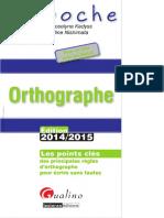 Orthographe 2014-2015