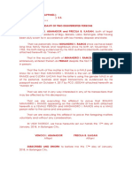 Affidavit - 2 Disinterested- MALE