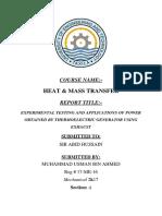 Thermo electric heat generator