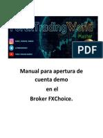 Manual para apertura de cuenta demo FXChoice