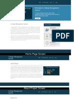 Python, Django and MySQL Mini Project on College Management System Screens