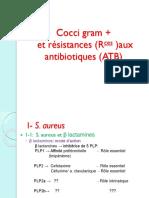 Cocci Gram (+) et Résistances aux ATB_Pr Benouda_2012-2013
