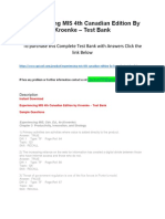 Experiencing MIS 4th Canadian Edition by Kroenke – Test Bank