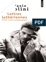 Pier Paolo Pasolini - Lettres Lutheriennes