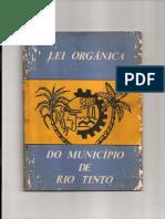 Lei Orgânica de Rio Tinto