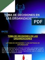 TOMA DE DECISIONES EN LAS ORGANIZACIONES