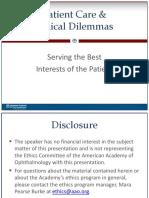 Presentation - Patient Care Case Studies