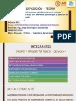 DIAGRAMA DE FLUJO - OPERACIONES UNITARIAS I