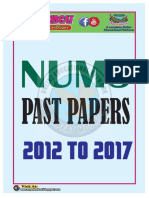 NUMS Past Papers 12-16
