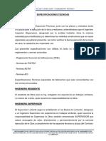 Especificaciones Tecnicas -Paccha y Huacaz