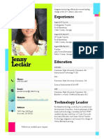 leclair resume sticky note