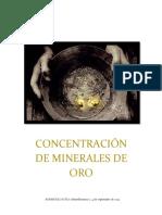 concentracion de minerales de oro (gravimetria)
