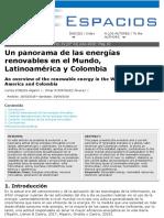 Energías renovables en el mundo