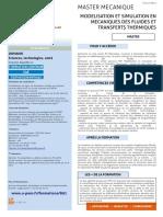 802 Modelisation Et Simulation en Mecaniques Des Fluides Et Transferts Thermiques Adm