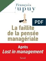 La Faillite de La Pensee Manageriale