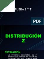 prueba t y z