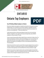 Ontario » WorkingHolidayinCanada.com