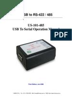 Manual Del Usuario USB to RS-422 / 485