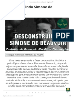 Desconstruindo Simone de Beauvoir