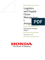 Supply Chain Management System of Honda Motors