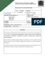 Informe de Esterilización de materiales